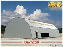 Ангары,склады,цеха,зернохранилища шириной от 8м до 24м