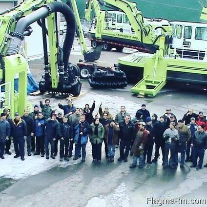 Земснаряды из Канады Амфибекс АЕ1000 Р.