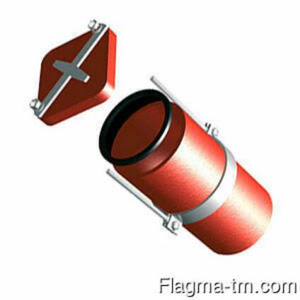 Безраструбная заглушка с прижимными скобами 150 мм FP-Preis