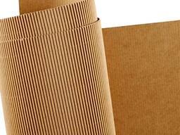 Бумага для гофрирования и картон плоских слоев