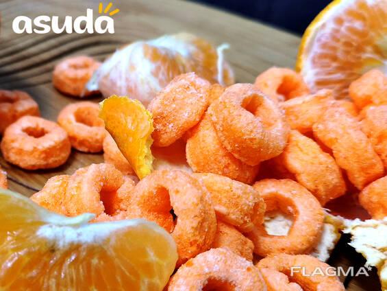 Кукурузные колечки со вкусом апельсина