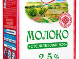 Молоко Славянские традиции 2,5% жирности тетрапак. Беларусь