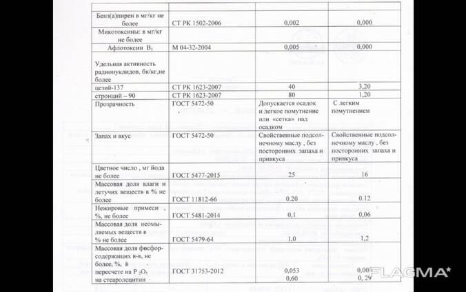 Нерафинированное масло ЖД цистерны Казахстан