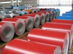 Оцинкованная рулонная сталь с полимерным покрытием 1мм